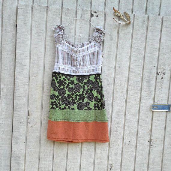 Medium Large Urban Chic Dress / Baby Doll / Funky By