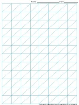graph paper full page grid lattice multiplication 8x12 boxes