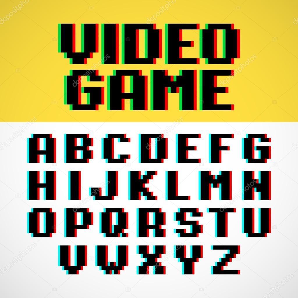 Pixel Font, Aesthetic Fonts, Lettering Fonts