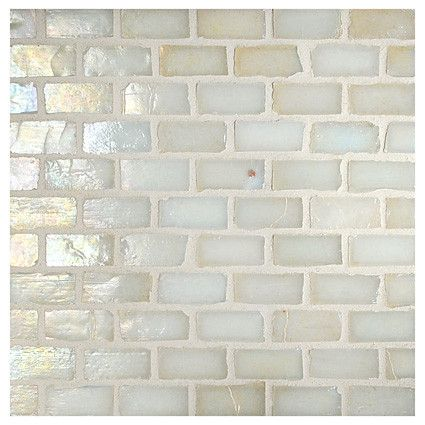 Complete Tile Collection Luna Gl Mosaic Creamy Aqua Pearl 1 2 X Mini Brick Recycled Mi 038 G2 260 310 Color