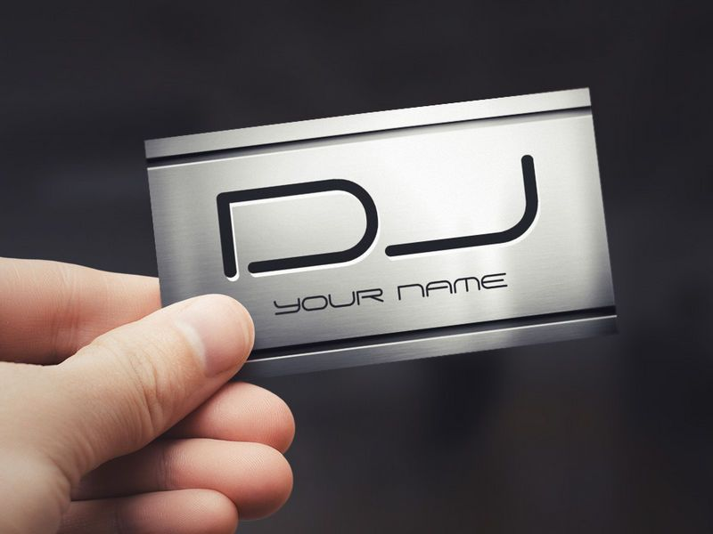 Premium Brushed Stainless Steel Metal - Music DJ Business Card ...