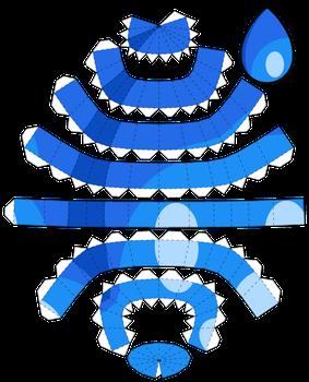 lapis lazuli new papercraft template by portadorx cosplay