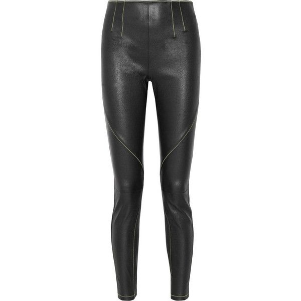 2deef71b8af4 T by Alexander Wang Stretch-leather leggings (38.300 RUB) ❤ liked on  Polyvore