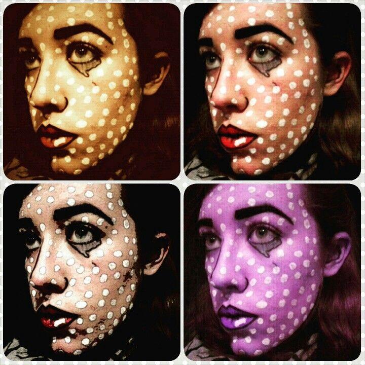 Pop art makeup by ZeeBee SFX