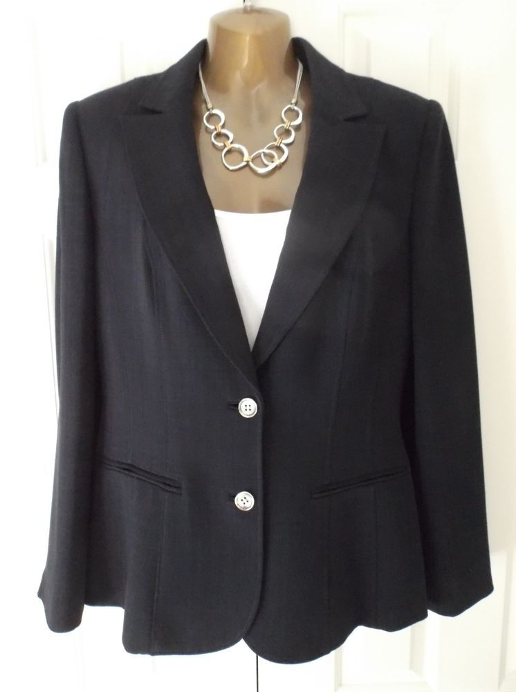 Smart Austin Reed Navy Gabardine Tailored Jacket Uk12 Perfect For Office Work Fashion Clothing Shoes Access Tailored Jacket Clothes For Women Navy Fashion