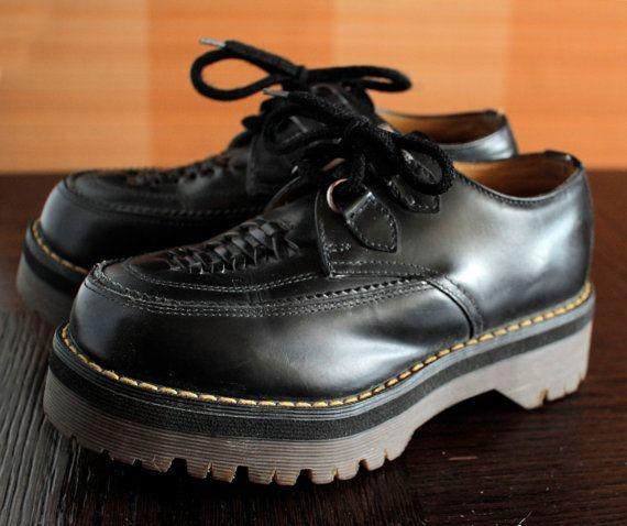 138d02635e8a Dr Martens black platform Creepers UNIQUE vintage shoes DOCS ...