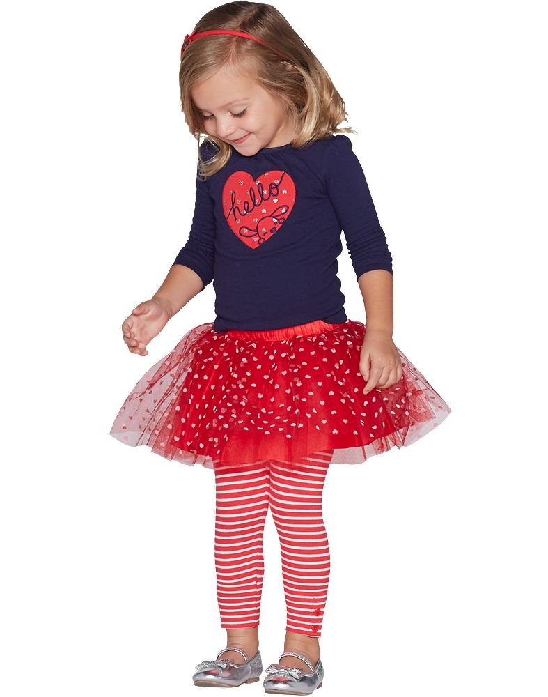 US Valentine Day Toddler Kid Baby Girl Clothes Ruffle Love Dress Party Sundress