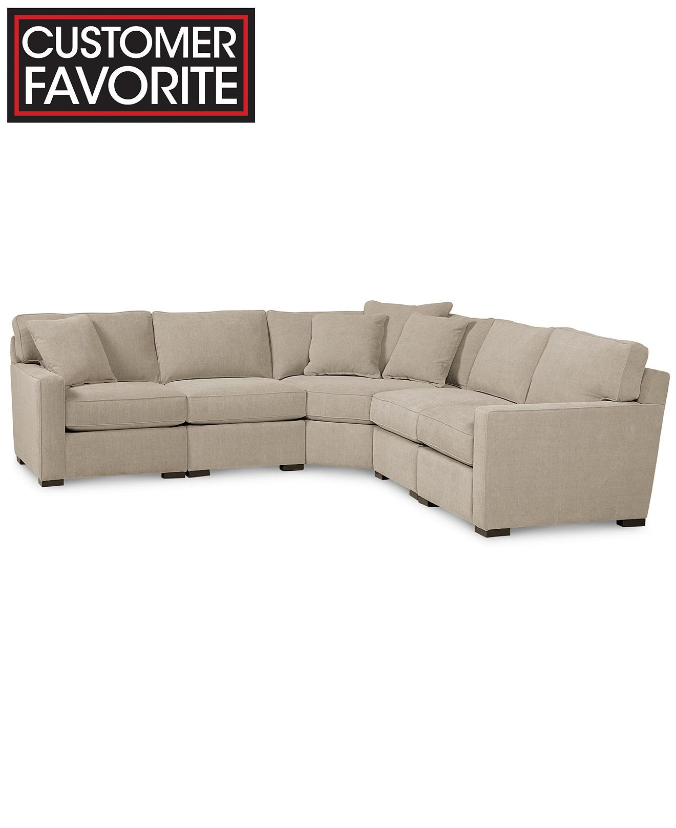 Radley Fabric 5 Piece Sectional Sofa Created For Macy S