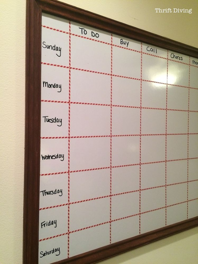 How To Make A Big Diy Whiteboard To Get Organized For The