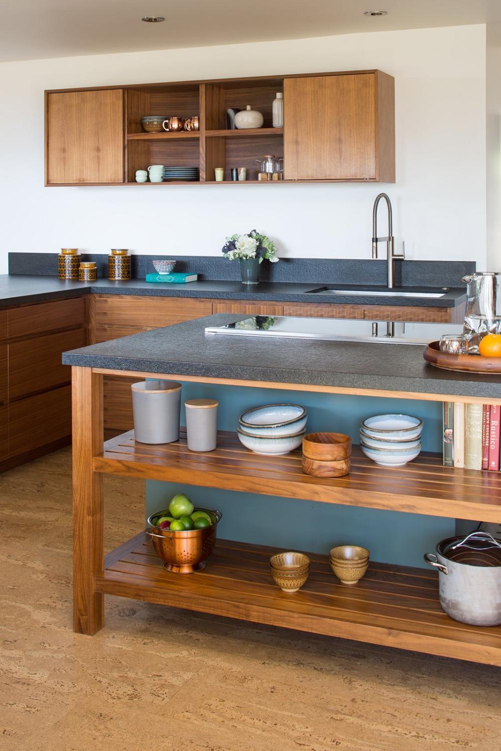 Glendale Mid Century Modern Home In Glendale California On Dwell Modern Kitchen Open Shelving Mid Century Modern Kitchen Modern Kitchen