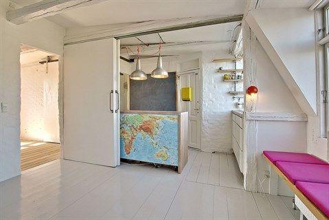 nyt bad Trøjborgvej 24, 4. th., 8200 Aarhus N   Penthouse lejlighed på  nyt bad