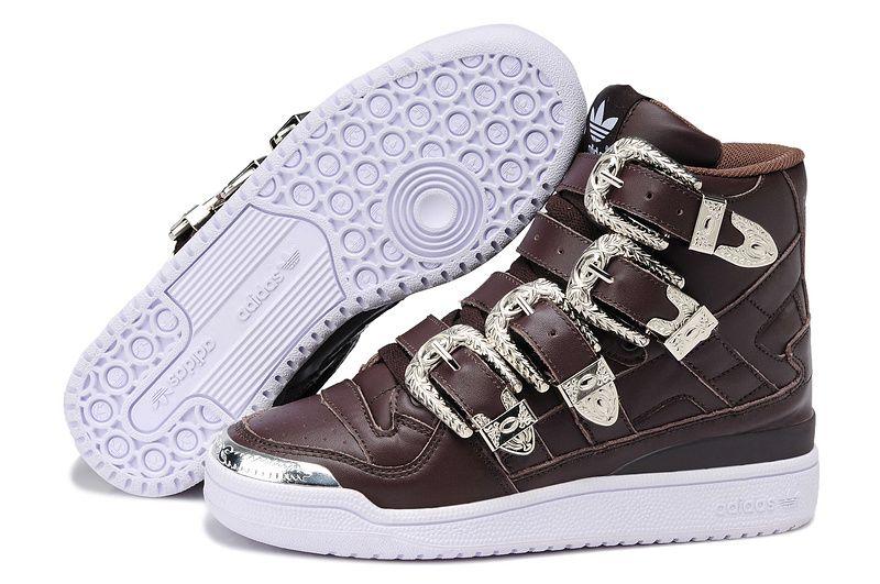 Adidas X JEREMY SCOTT FORUM HEAVY METAL BROWN