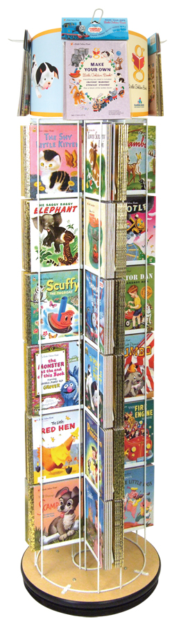 A friend got one just like this at Border's when it closed down.  Adorable way to display all Johnny's books in the playroom.