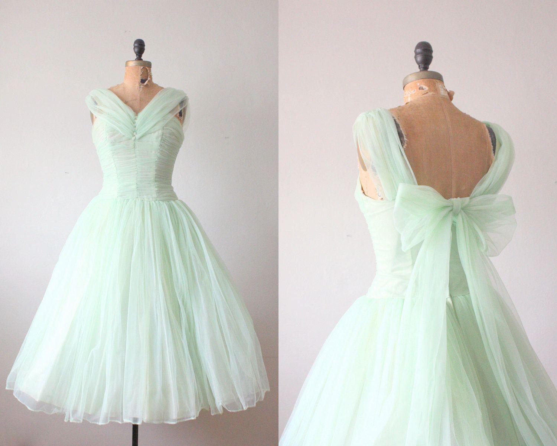 Stunning s dress mint green princess dress via etsy