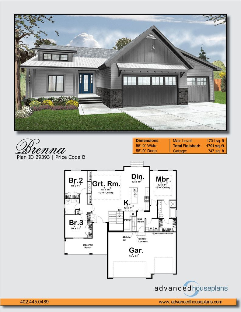 Modern Cottage House Plan Brenna Advanced House Plans Advanced House Plans Cottage House Plans House Plans Farmhouse