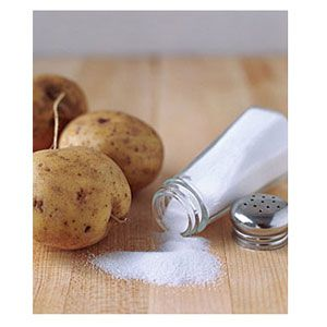 """Myth: A Potato Can Save a Salty Soup or Stew...FALSE: False. Potatoes are not actually vey absorbent and will take in salty water, but will not remove the salt from the water. However, there is hope for salty soups and stews: Adding a bit of vinegar or sugar can """"cancel out"""" the saltiness by giving your taste buds competing flavors."""