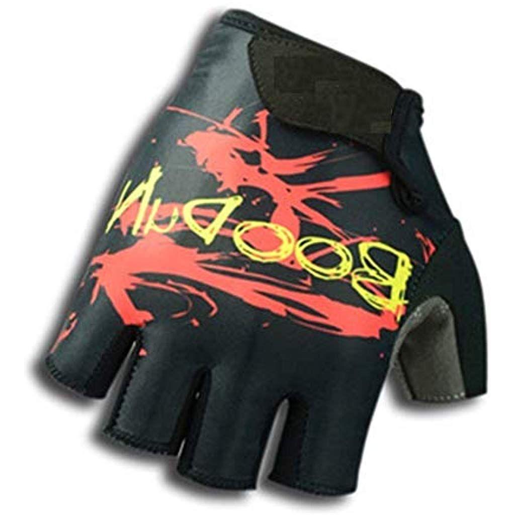 BOODUN White Sports Cycling Gloves Half Finger Bike Shockproof Lycra S-XXL