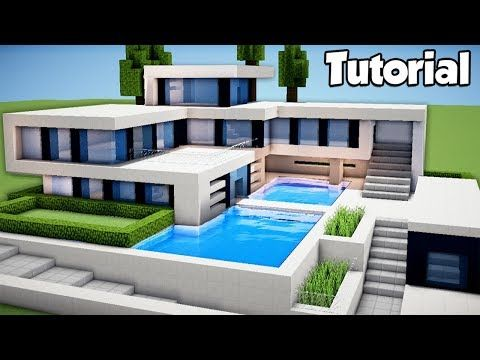 Minecraft How To Build A Large Modern House Tutorial YouTube - Coole minecraft hauser tutorial