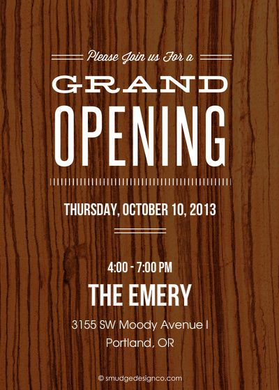 Pin About Grand Opening Invitations On The Emery