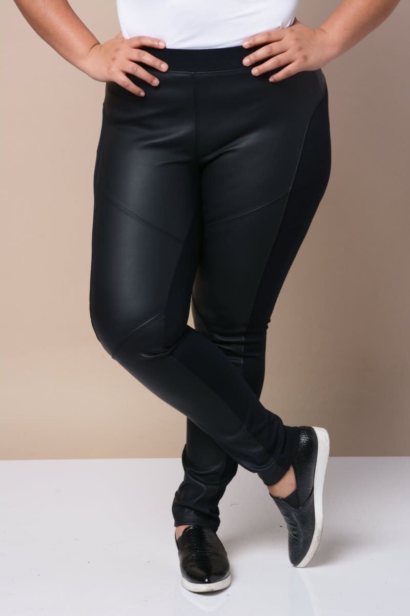 dfb1f02ea6517 Faux Leather Panel Leggings Leather Panel Leggings, Junior Outfits, Outfits  For Teens, Trendy
