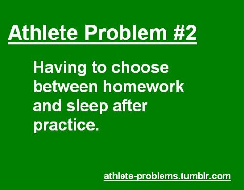 I would have to say homework goes out on top but sleep soon follows!