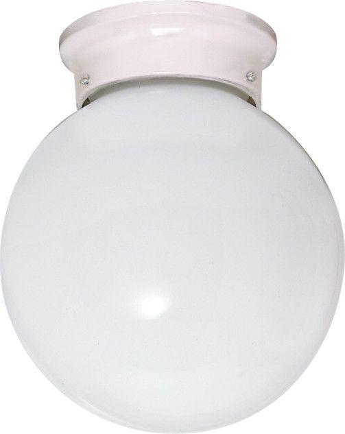 1 Light Cfl 8 Flush Mount White Ball 1 13w Gu24 Lamps Included Globe Ceiling Light Flush Mount Lighting White Flush Mount Light