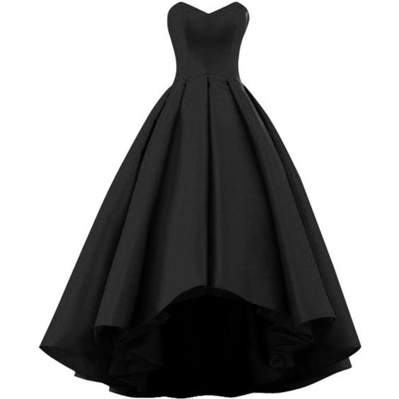 Black Sweetheart Short Front Long Back A Line High Low Prom Dress,Formal Gown,Fashion Prom Dresses,810624