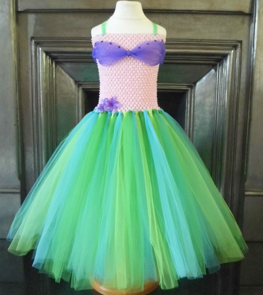 Ariel Inspired Tutu Dress Handmade Disney Little Mermaid