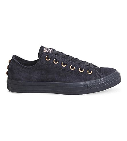 CONVERSE All Star low-top leather studded sneakers.  converse  shoes ... 86a800112