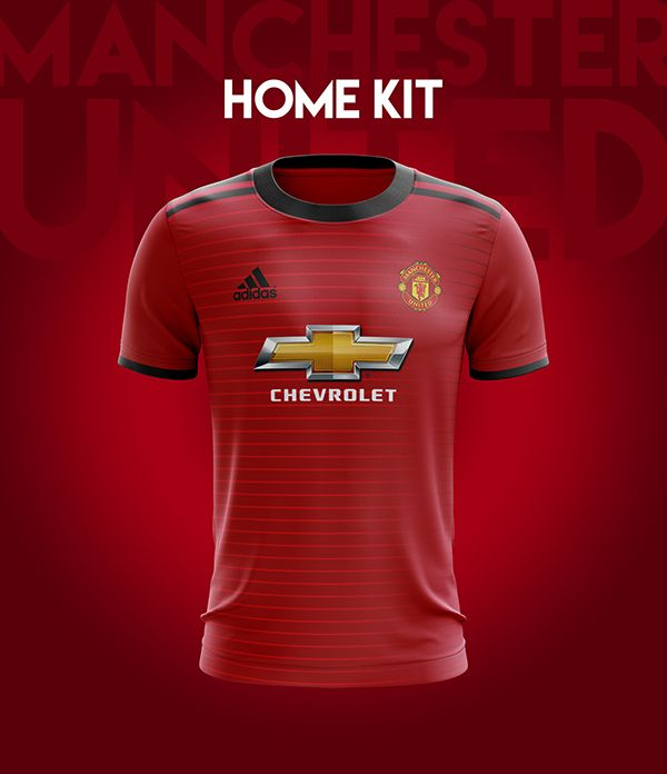 7aef154946a Manchester United Football Kit 18 19. on Behance