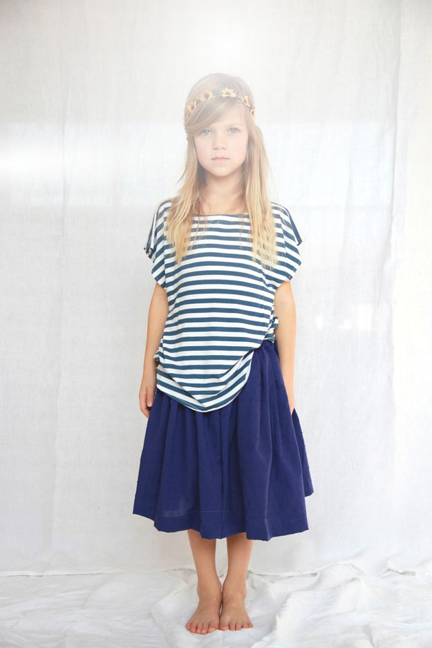 7e3935a99ba26 Striped Shirt and Midi Skirt | Amazing Children's Clothes You Wish Came In Adult  Sizes
