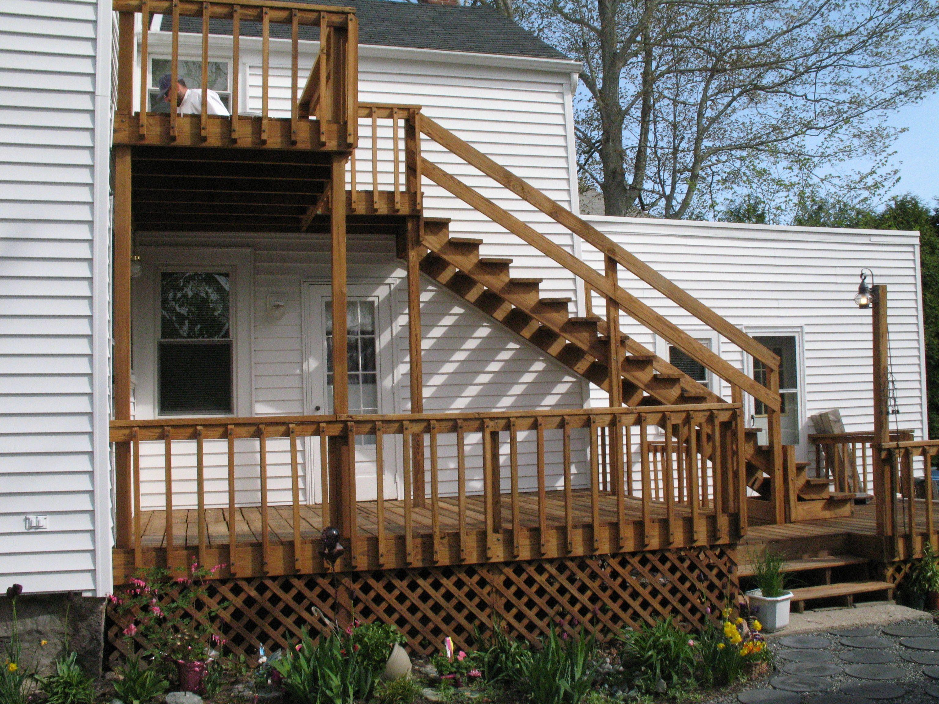 Pressure Treated wood decking sealed to look like new!