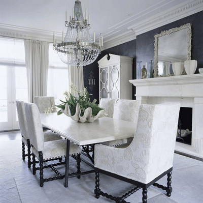 Search Black And White Dining Room White Dining Room Beautiful Dining Rooms