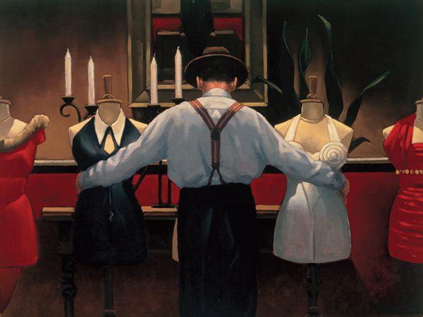 Jack Vettriano (Scottish, born 1951) 'A Kind of Loving' Oil on canvas ~ 28 x 36 inches ~ 1992