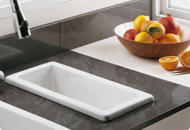Rak Gourmet Sink  White Ceramic Individual Bowl Small Kitchen Sink