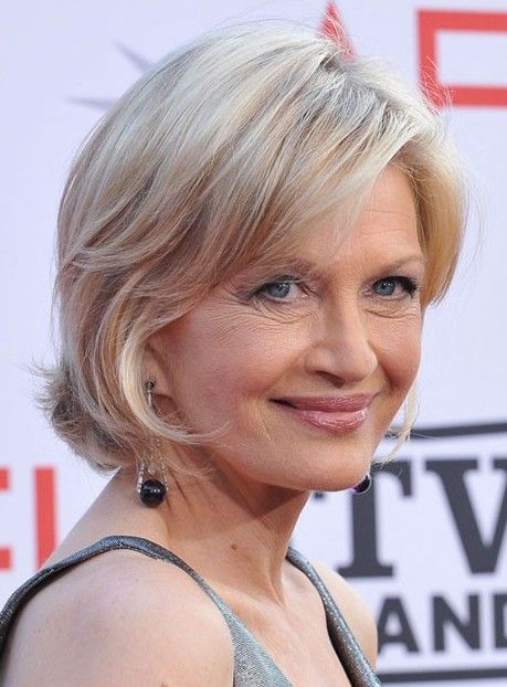 Short Hair Styles For Women Over 50 | Diane Sawyer Short Bob Haircut: Short Haircut for Women Over 50s