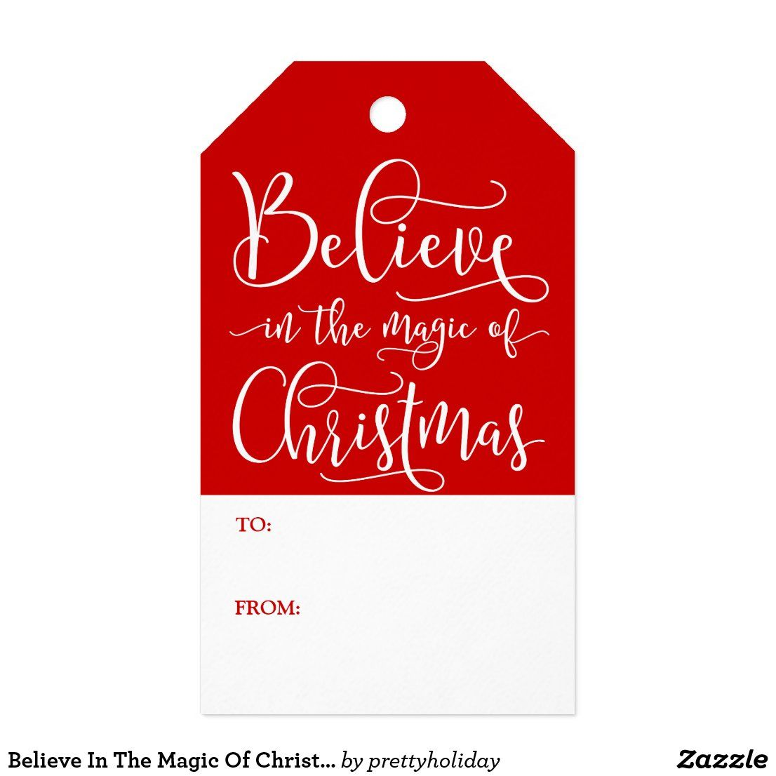 Believe In The Magic Of Christmas Gift Tags