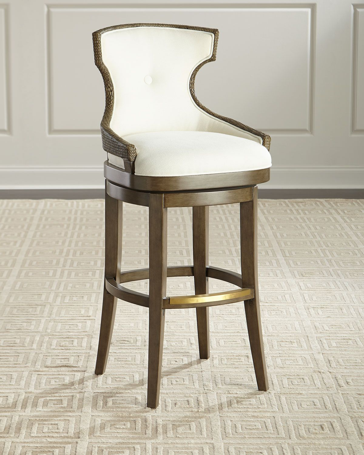 Palecek Zachary Bar Stool Bar Stools Upholstered Seating Stool