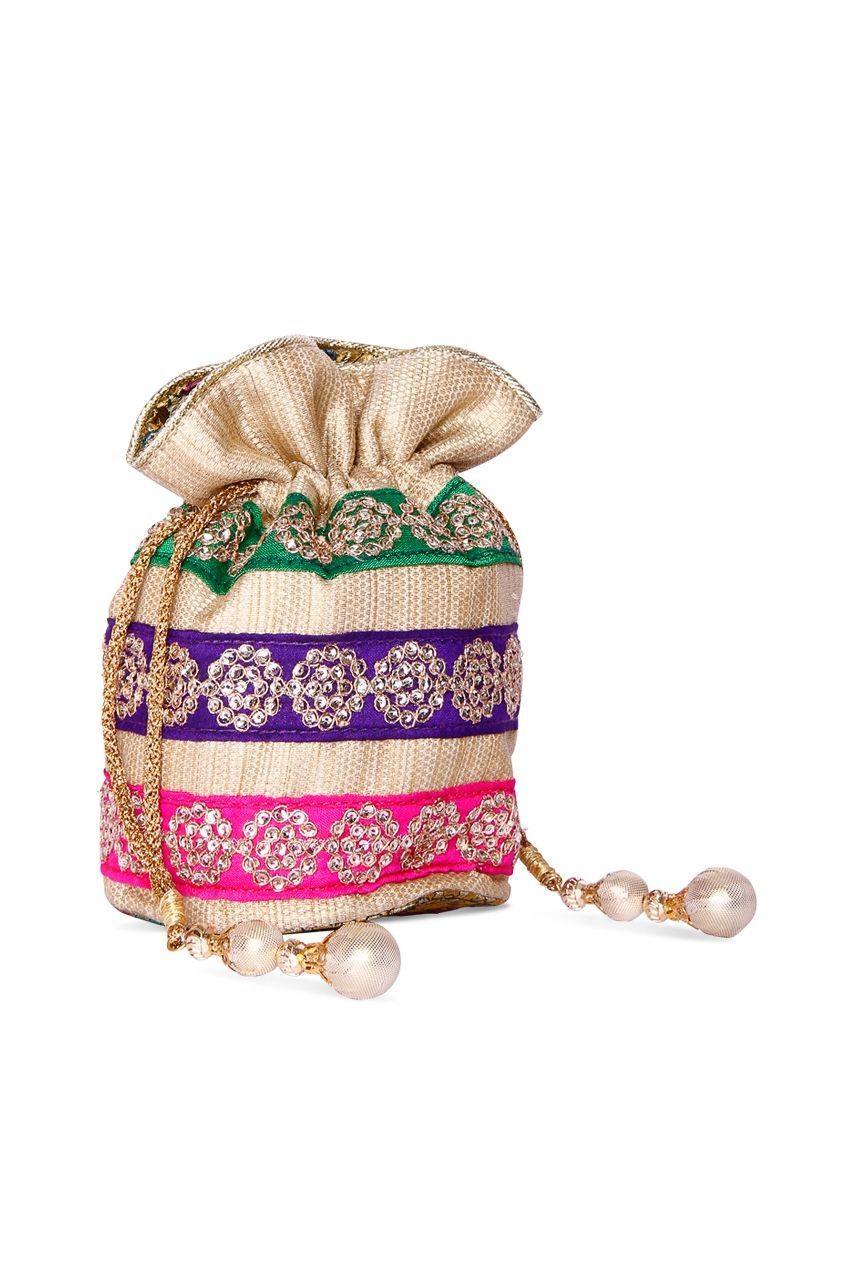 Multi Starrer Potli Rs. 1375/- http://www.juvalia.in/collection/cocktail-closet/the-bag-brigade/multi-starrer-potli.html