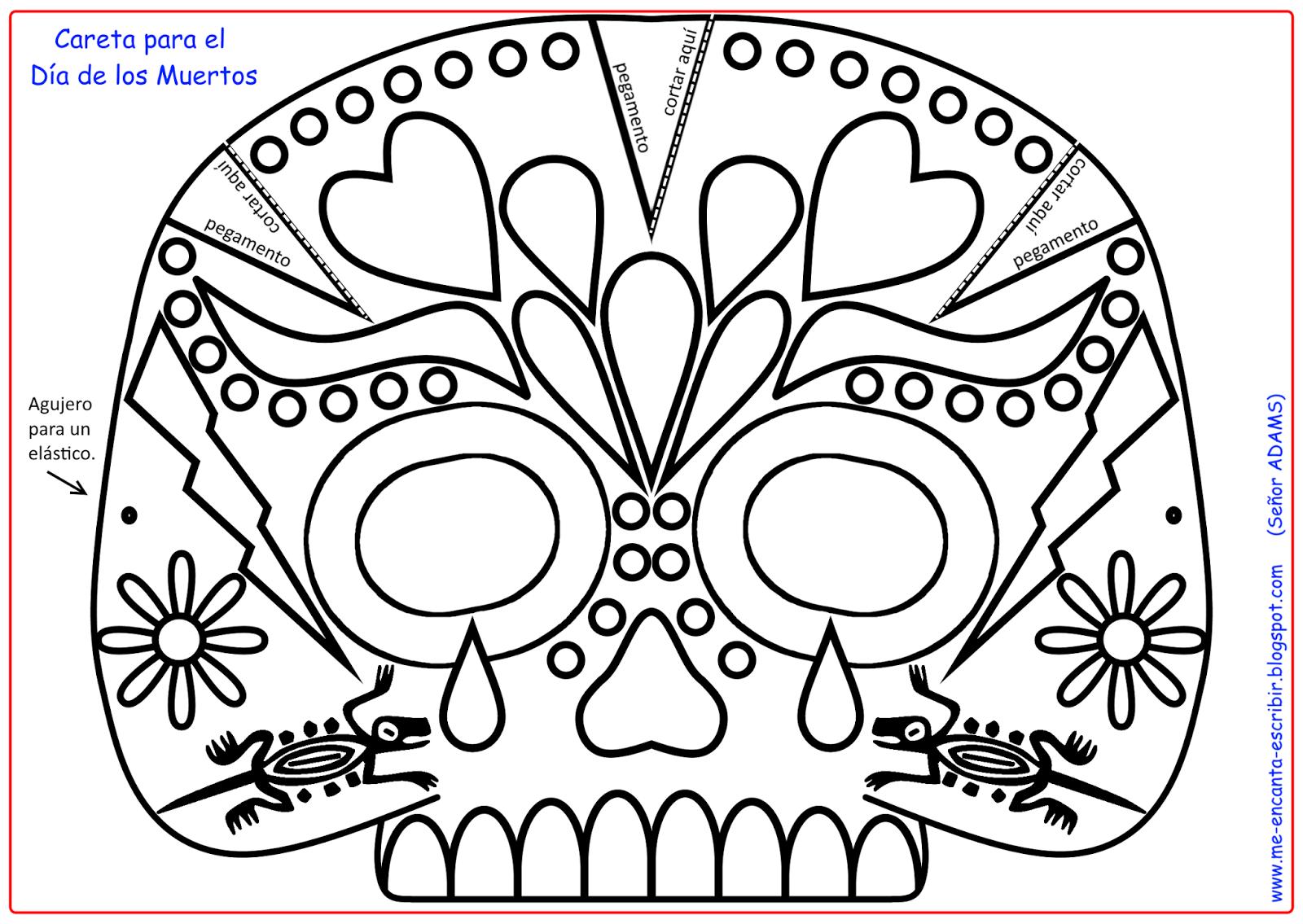 Resultado De Imagen Para Mascara De Calavera Para Imprimir