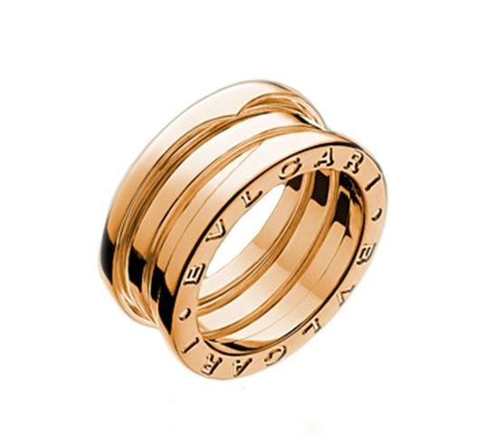 Bvlgari B Zero1 Rose Gold 3 Band Ring Bvlgari Rings