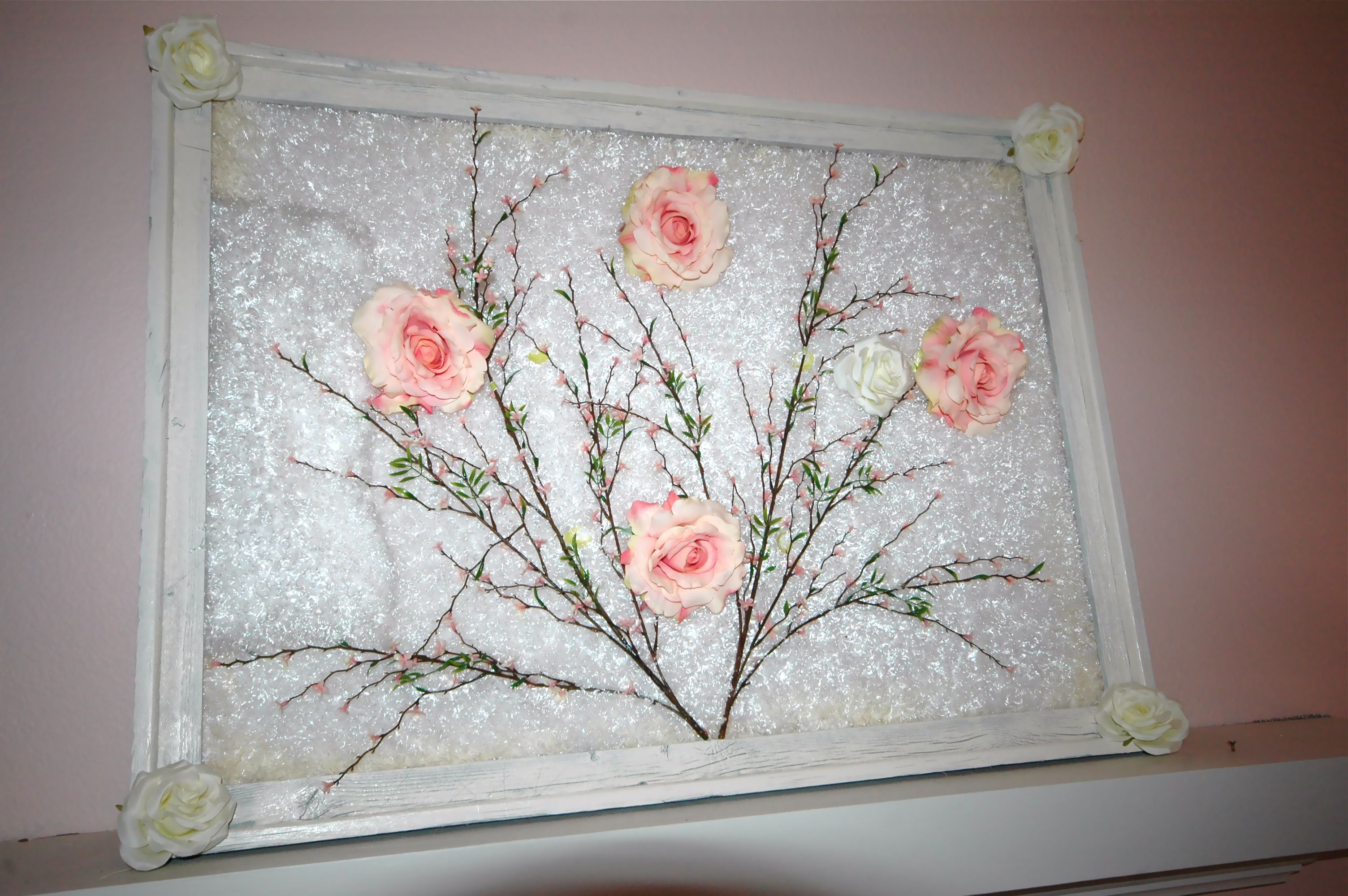Shabby chic wall art took me minutes to do everything from