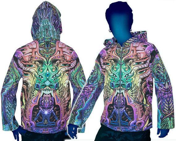 Cardi B Loyalty Over Royalty Bicep Tattoo: Psychedelic Hoodie 'Alpha Centauri'. UV Active Festival