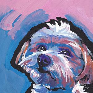 Maltese Painting - Luv You Mor by Lea S
