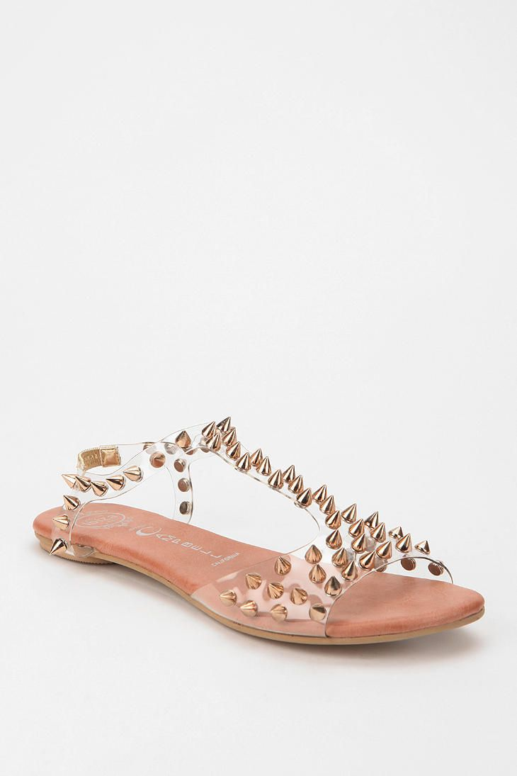 22cbcf238f36 Jeffrey Campbell Puffer Spike-Stud T-Strap Sandal For sale on Urban  Outfitters