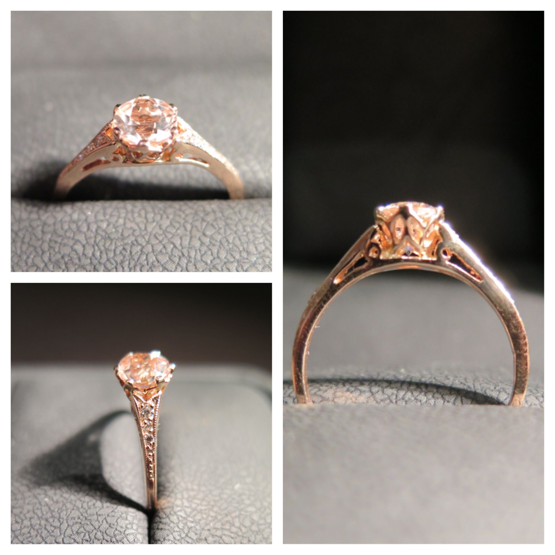 morganite rose gold engagement ring nontraditional engagement rings nyc catherine angiel catherine angiel - Non Traditional Wedding Rings