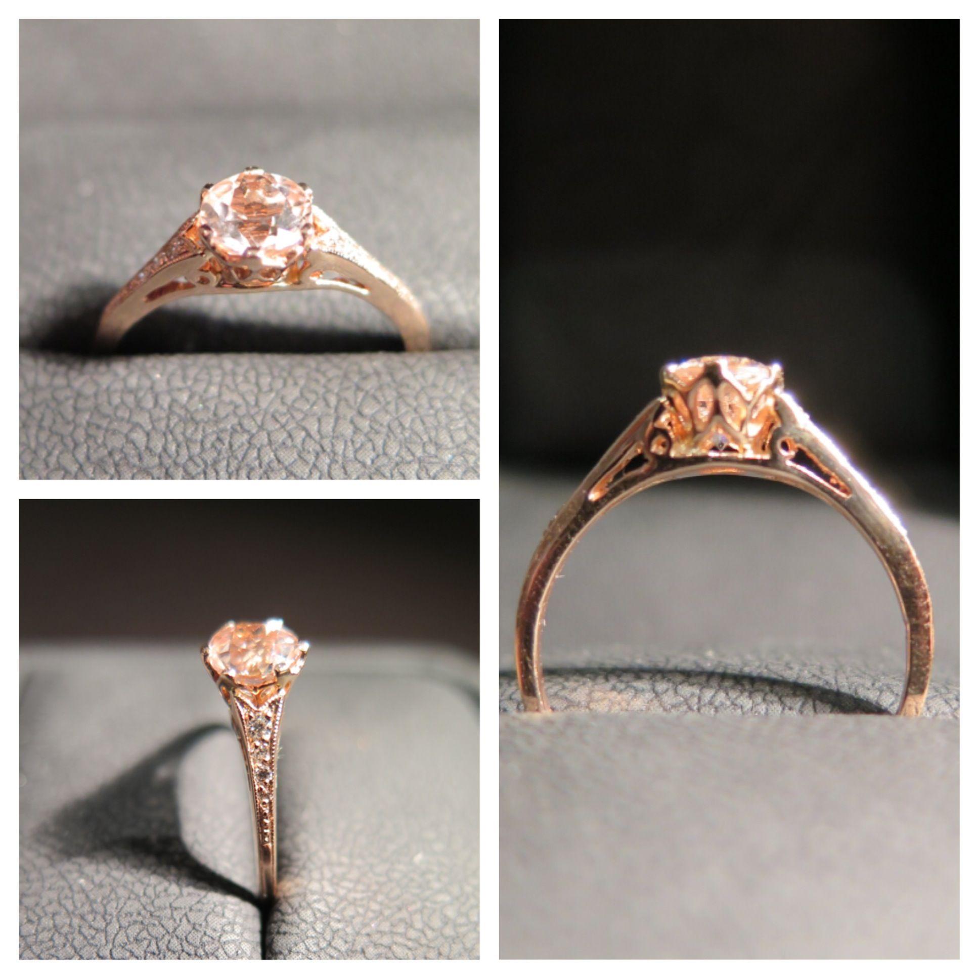 Morganite Rose Gold Engagement Ring