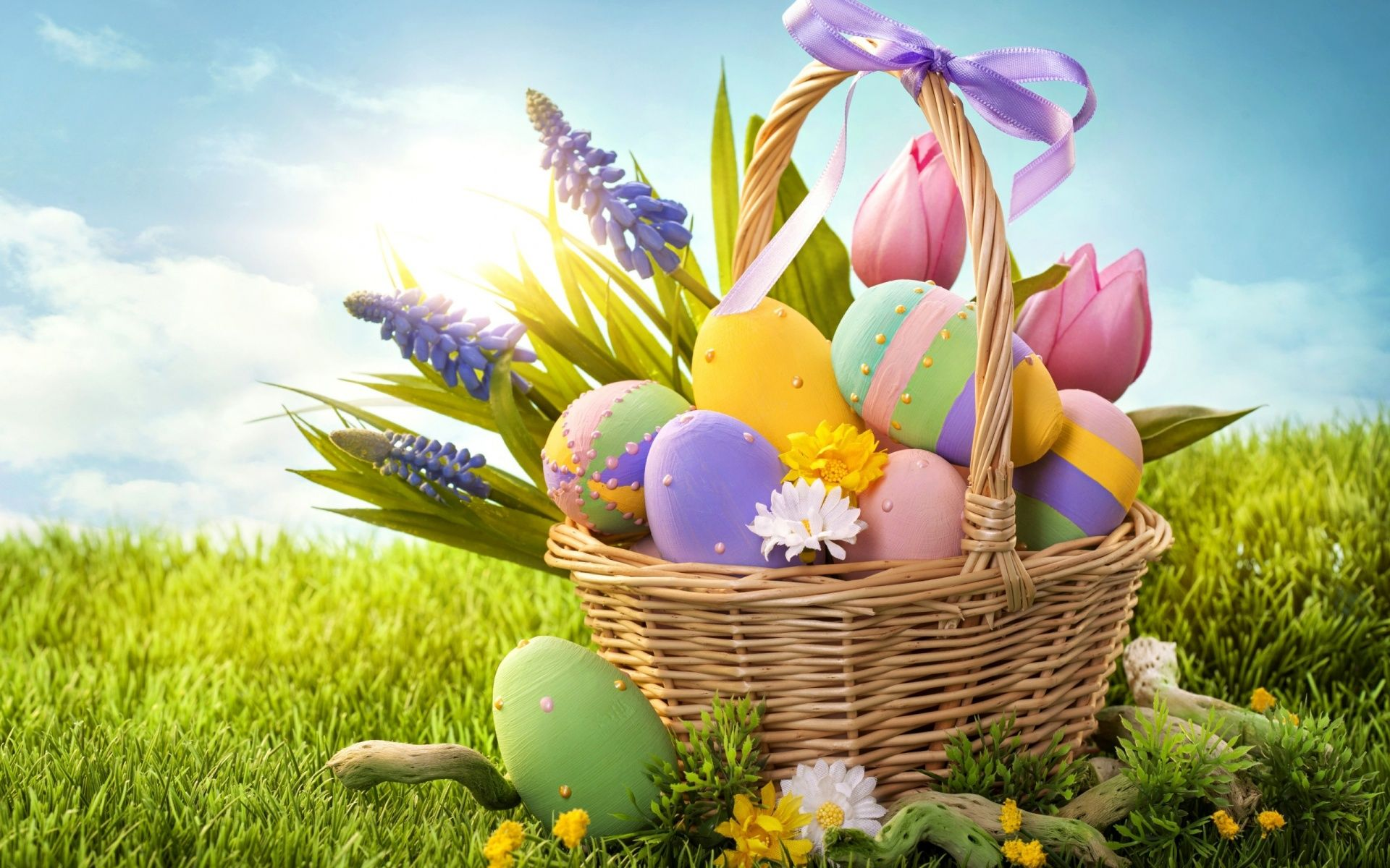 Pin by hsktnk on easter | Pinterest | Holiday wallpaper, Easter ... for Easter Eggs In A Basket Wallpaper  545xkb