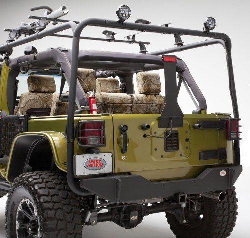 Black Steel Jk Jeep Wrangler Body Armor Rear Bumper Jeep Jk
