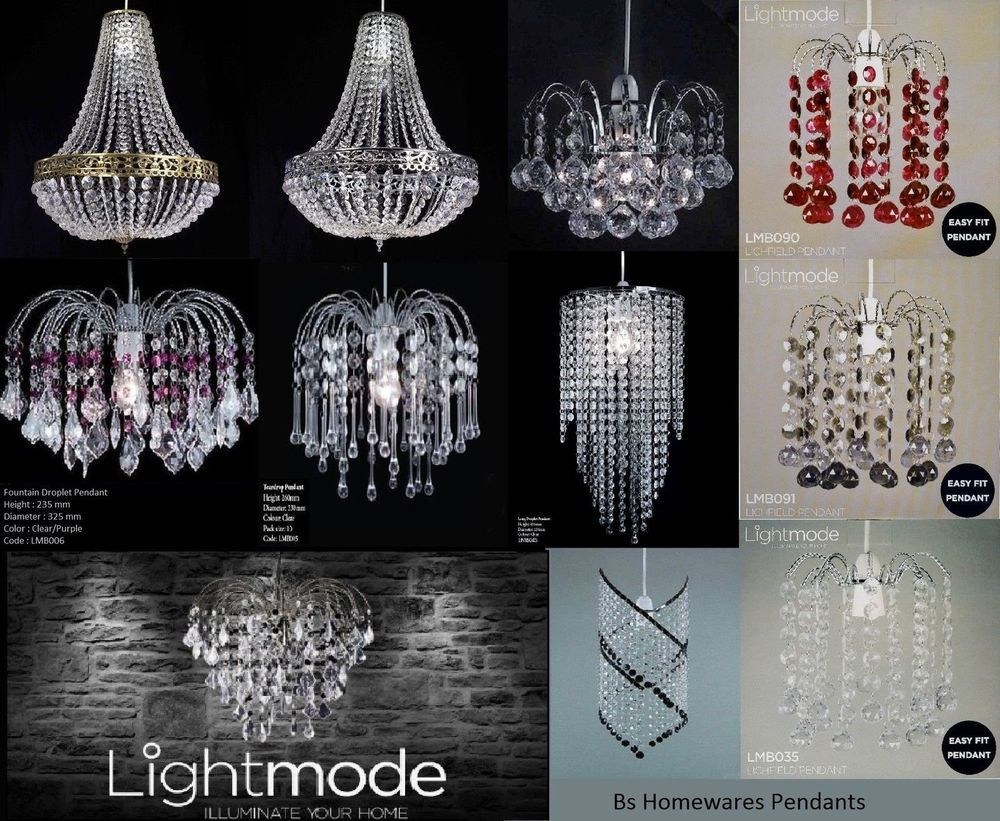 Clear/Purple Acrylic Fountain Droplet Ceiling Pendant Light Shade Chandelier Ceiling Lights & Chandeliers
